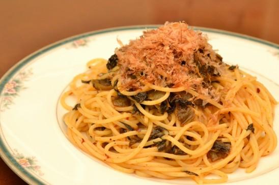 からし高菜のスパゲッティ